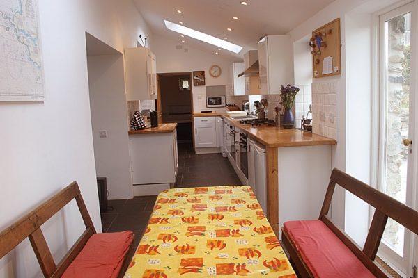 Garn Isaf Pembrokshire Self Catering star Bedroom St Davids Kitchen Dining Area