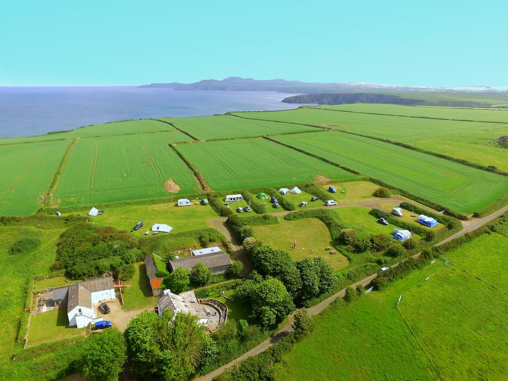 Garn Isaf aerial Abercastle Campsite St Davids
