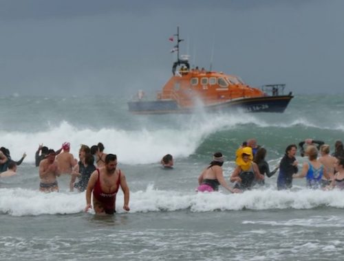 Whitesands Beach RNLI Charity Swim Pembrokeshire Garn Isaf